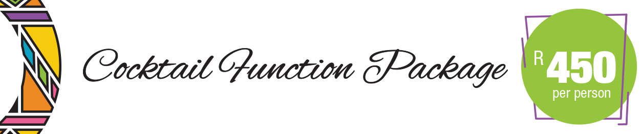 Cocktail Function Package - R450 per person